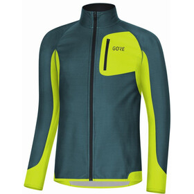 GORE WEAR R3 Partial Gore Windstopper Maglietta Uomo, dark nordic/citrus green